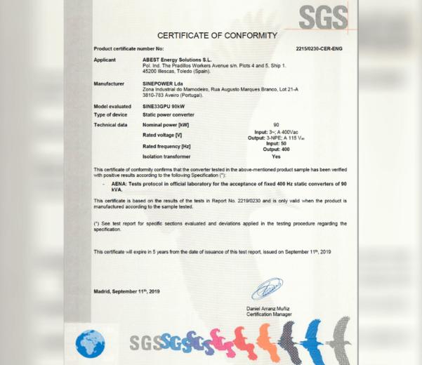 latest energy news aena certification